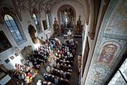 Blick in die Kirche von Werthenstein während eines Gottesdienstes. (Bild: Pius Amrein / Neue LZ)