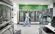 Szene aus einem Forschungslabor der Novartis im chinesischen Schanghai. (Bild: Qilai Shen/Getty (Schanghai, 1. Juni 2016))