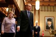 Erdogan gibt Deutschland die Schuld an der Verschlechterung der Beziehungen. (Symbolbild Keystone)