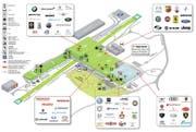 Übersichtsplan der Genfer Palexpo-Hallen. (Bild: PD)