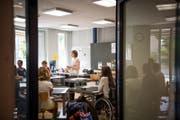 Schulanfang bei einer Schulklasse der Rodtegg-Stiftung. (Bild: Roger Grütter (Luzern, 21. August 2017))