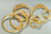 Der Goldschatz von Erstfeld wird weiterhin im Schweizerischen Nationalmuseum in Zürich zu sehen sein. (Bild: Schweizerischen Nationalmuseum)