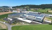Die 4200 Solarpanels produzieren auf dem Dach mehr Strom als die Firma benötigt. (Bild: PD)