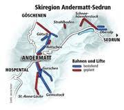 Skiregion Andermatt-Sedrun. (Bild: Janina Noser)