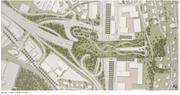 Der Plan der neuen Brücke in Kriens aus der Vogelperspektive. (Bild: PD/ Visualisierung Astra)