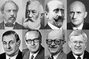 Die acht Bundesräte aus den Zentralschweizer Kantonen. (Bild: Archiv Neue LZ)