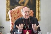 Vitus Huonder (75) im Gespräch mit unserer Zeitung am Bischofssitz in Chur. (Bild: Michel Canonica (3. Mai 2017))