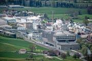 Blick auf die Kehrichtverbrennungsanlage Renergie und Industriegebiet Perlen. (Bild: LZ)