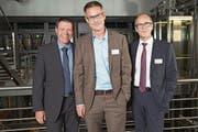 Von links: Marcel Reichmuth, Patrik Rust und Stephan Marty, alle ewl energie wasser luzern.