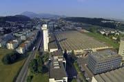 Blick aufs Areal von Schindler in Ebikon. (Bild René Meier)