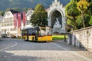 Der Winkelriedbus ist eine neue Verbindung von Stans nach Altdorf, die Reisezeit wird dadurch merklich verkürzt zwischen den beiden Destinationen bzw. Kantonen. (Bild: PD)