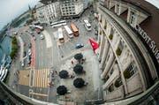 Zwischen Oktober 2014 und Januar 2015 muss der Schwanenplatz für Cars und Autos gesperrt werden. (Bild: Roger Grütter / Neue LZ)