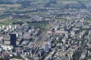 Blick auf die Stadt Zug