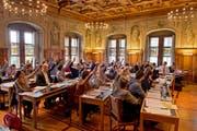 Eine SP-Stadträtin tritt aus dem Grossen Stadtrat zurück. Im Archivbild: Eine Stadtratssitzung im Rathaus Luzern. (Bild: LZ / Dominik Wunderli)