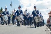 Siegt in der Kategorie Parademusik, Brass Band Kategorie 3: Musikgesellschaft Wauwil. (Bild Dominik Wunderli)