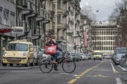 Blick auf die neugestaltete Sempacherstrasse in der Luzerner Neustadt. (Bild Pius Amrein)
