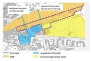 So sieht der gemeinsame Plan der Gemeinde Risch und der SBB für den Bahnhof Rotkreuz aus. (Bild: PD)