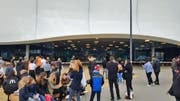 Die Mall of Switzerland wurde abgesperrt. (Bild: Radio-Pilatus-Hörer)
