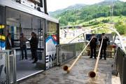 Ist seit dem 29. Mai in Betrieb: Luftseilbahn auf die Klewenalp. (Bild: Corinne Glanzmann / Neue NZ)