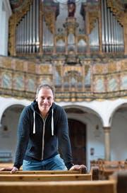 Seit 2001 ist Johannes Strobl (48) für die Musik in der Klosterkirche Muri verantwortlich. Durch ihn ist der Ort zu einem Zentrum für alte Musik geworden. (Bild: Stefan Kaiser (14. August 2017))