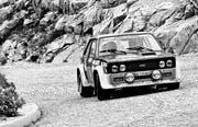 Bilder von Rennwagen – wie hier am Rallye Gotthard 1983 – gibt es auch dieses Jahr wieder: am Prolog am Samstag. (Bild pd)