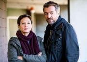 Delia Mayer als Liz Ritschard und Stefan Gubser als Reto Flückiger. (Bild: SRF/Daniel Winkler)