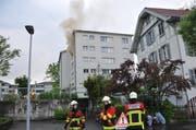 Beim Brand kam eine Frau ums Leben. (Bild: Leserreporter Stefan Rüttimann)