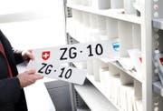 Für «ZG 10» ist in der ersten Auktion des Strassenverkehrsamts am meisten gezahlt worden. (Bild: Stefan Kaiser (Steinhausen, 12. Februar 2018))