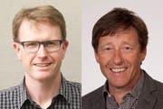 Markus Egli (39, links) und Daniel Schwegler (53) sind die neuen Prorektoren an der Kantonsschule Willisau. (Bilder PD)