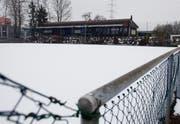 Die Anlage des TC Zug liegt jetzt noch im Winterschlaf. (Bild Stefan Kaiser/Neue ZZ)