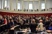 Der neu vereidigte Kantonsrat (Bild) ist in der Mehrheit für die Geheimhaltung der Berichte zu Administrativuntersuchungen. (Bild: PD)