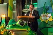 er Urner alt FDP-Nationalrat Franz Steinegger, einer der diesjährigen Wey-Ehrengäste, bei seiner Ansprache. (Bild: Heinz Steimann)