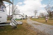 Der Horwer Campingplatz – derzeit noch in der Winterpause – bleibt mittelfristig erhalten. (Bild: Manuela Jans-Koch (16. März 2018))