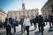 Die deutsche Kanzlerin Angela Merkel gestern beim Verlassen des Konservatorenpalastes in Rom. (Bild: Guido Bergmann/Getty)