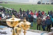 Trotz eisigem Wind nahmen gestern rund 250 Personen an der Bauernwallfahrt teil. (Bild: Dominik Wunderli (Stettenbach, 17. Januar 2018))