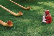 Alphornbläser gehören traditionell zu einer 1.-August-Feier dazu. (Bild: Keystone)