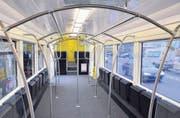 18 Klappsitze und viel Platz: Abteil in einem Zug des Regionalverkehrs Bern–Solothurn. (Symbolbild zvg)