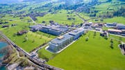 Das neue Gebäude entsteht unmittelbar beim Bahnhof Ewil Maxon. (Bild: Visualisierung PD/Maxon)