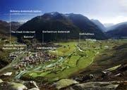 Das Titelbild der Studie zeigt auf, welche Infrastrukturen für die Entwicklung von Andermatt und des Resorts berücksichtigt wurden. (Bild: PD)