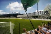 So soll das neue Stadion des SC Kriens aussehen. (Bild: Visualisierung: PD)