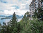 Das Restaurant Spices (Vorbau) im Bürgenstock-Hotel hoch über dem Vierwaldstättersee. (Bild: Urs Flüeler/Keystone (18. September 2017))