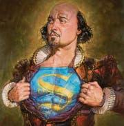 Shakespeare als Superman: In keiner anderen Kultursparte gibt es eine so klare Nummer 1, wie er es ist. (Bild: Illustration Mathew McFarren)