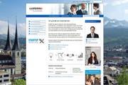 So sieht die neue Website für Jungunternehmer aus. (Bild: Screenshot startups-luzern.ch)