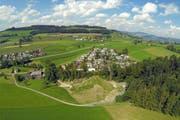 Ein Blick aus der Vogelperspektive auf die Gemeinde Buttisholz. (Bild: René Meier / Luzernerzeitung.ch)