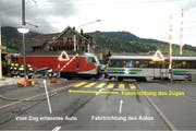 Die Unfallstelle in Sattel. (Bild Kantonspolizei Schwyz / SUST)