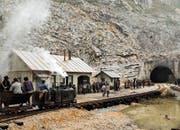 Szene aus «Gotthard»: Der Film erzählt die Geschichte des Tunnelbaus von 1872 bis 1880. (Bild: Schweizer Fernsehen (2016))