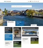 So präsentiert sich der neue Webauftritt der Stadt Luzern. (Bild: Screenshot: www.stadtluzern.ch)