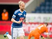 Markus Neumayr zweifacher Torschütze des FC Luzern (Bild: KEYSTONE/URS FLUEELER)