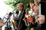 Pepe Lienhard während eines Auftritts am Heirassa-Festival 2014 in Weggis. (Bild: Nadia Schärli (Weggis, 22. Juni 2014))