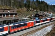 Über den Brünig fahren Anfang April keine Züge. Es verkehren Ersatzbusse. (Bild: Keystone)